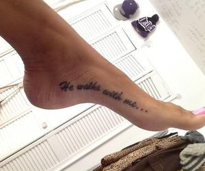 tattoo, feet, and quote image