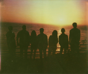 friends, vintage, and beach image