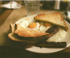 breakfast, vintage, and food image
