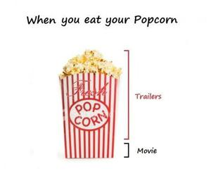 popcorn, movie, and trailer image