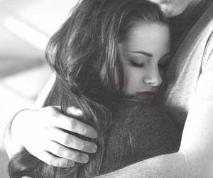 bella swan, black and white, and couple image