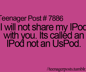 funny, ipod, and quote image