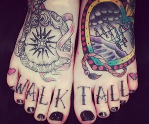 d and foot tattoo image