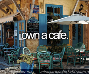before i die, cafe, and dreams image