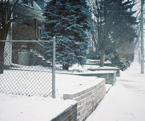 snow, trees, and vintage image
