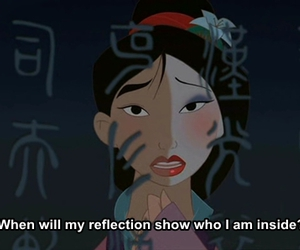 mulan, disney, and reflection image