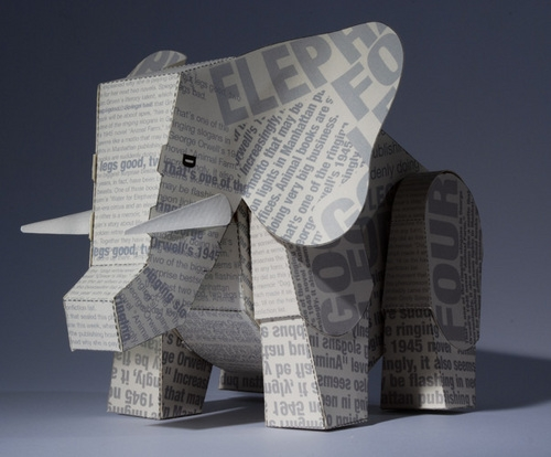 elephant, Paper, and words image