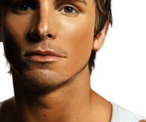 christian bale, painting, and portrait image