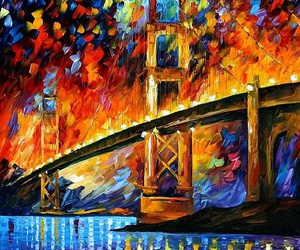art, colors, and golden gate image