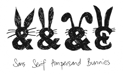 bunny, ampersand, and rabbit image