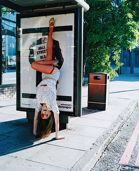 gallery, handstand, and red image