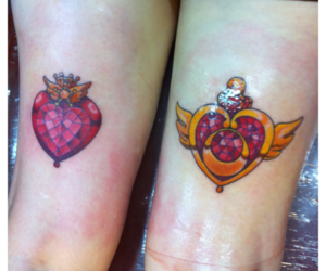 sailor moon and tattoo image
