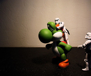 dinosaur, star wars, and storm trooper image