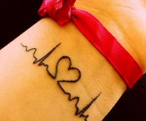 tattoo, heart, and tatoo image