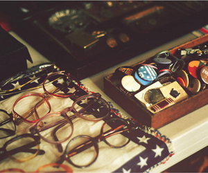 glasses and vintage image