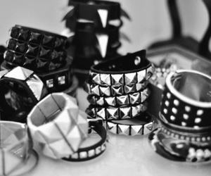 metal, punk, and black and white image