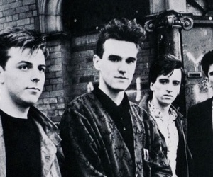 band, black and white, and morrissey image