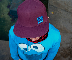 boy, cap, and cookie monster image