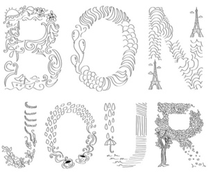bonjour, french, and drawing image