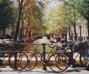 amsterdam, bicycle, and bikes image