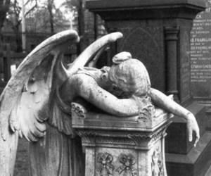 angel, sad, and statue image