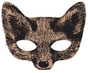 fox, mask, and drawing image