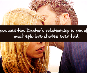 david tennant, doctor who, and rose tyler image