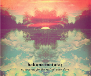 hakuna matata, quote, and no image