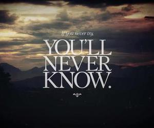 try, know, and quote image