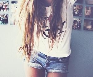 girl, hair, and ny image