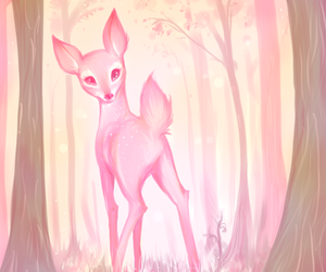 bambi, pink, and cute image