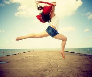 girl, jump, and cool image