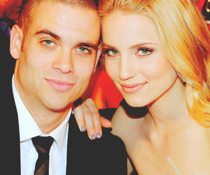 dianna agron, mark salling, and glee image