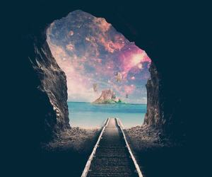 cave, paradise, and galaxy image