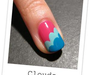 nails, blue, and clouds image