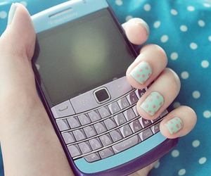 blackberry, nails, and blue image