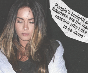 megan fox, fake, and quote image