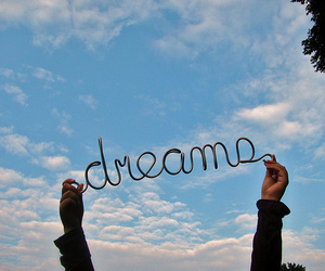 dreams, sky, and text image