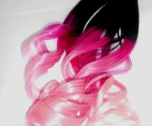 extensions, hair, and pink image