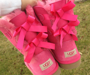 pink, uggs, and bow image