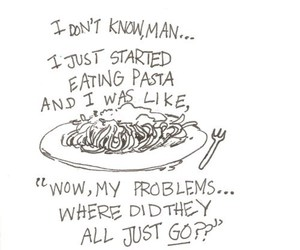 pasta, food, and problem image