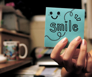 smile and blue image