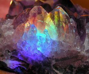 crystal, rainbow, and stone image