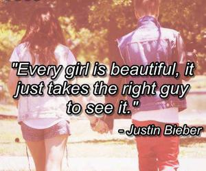 justin bieber, girl, and beautiful image