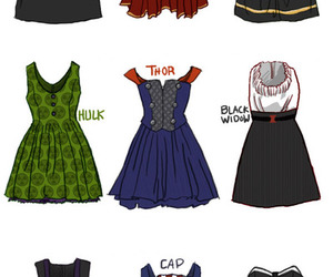 dress, Avengers, and Hulk image