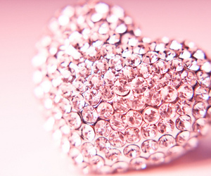 pink, heart, and diamond image