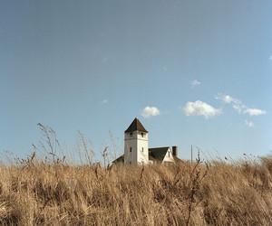 blue, building, and grassland image