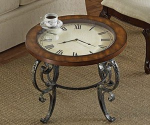 clock and table image