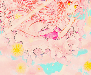 adorable, anime, and flowers image