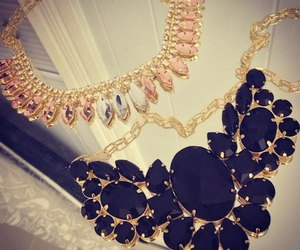 necklace, black, and gold image